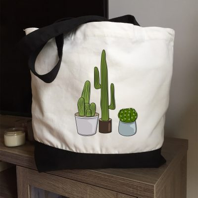 Sac fourre-tout bicolore Cactus 2