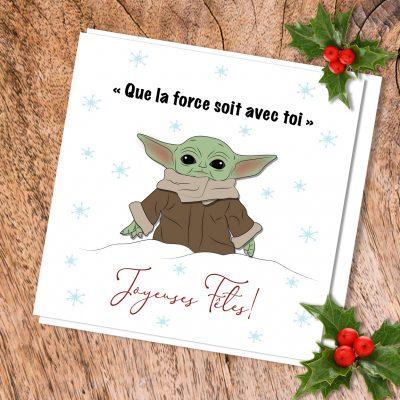 Carte de souhait Bébé Yoda
